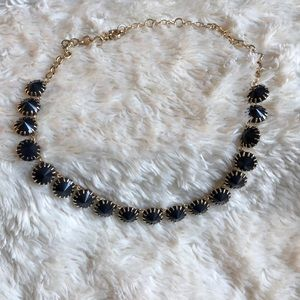 J. Crew navy beaded statement necklace.
